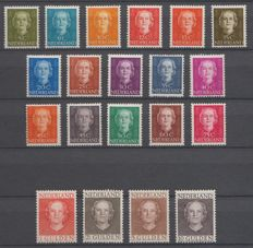 "The Netherlands 1949/1951 – Queen Juliana ""en face"" – NVPH 518/533 + 534/537"