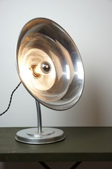 Large industrial table lamp (upcycled heat lamp)