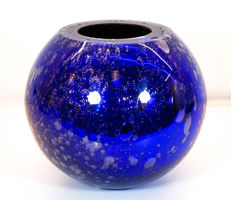 Davide Donà (Murano) - Blue mirrored Vase