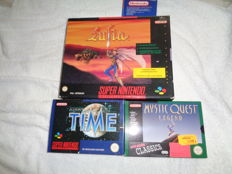 lot of 3 RPG Super NIntendo. Lufia big box , Ilusion of Time and Mystic Quest