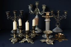 Lot of 10 candlesticks