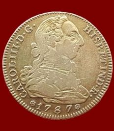 Spain - Carlos III, 4 escudos in gold, Madrid 1787 - 29 mm / 13.39 g