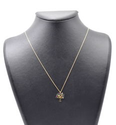 14 carat yellow gold chain with Pendant - 45 cm