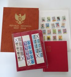 Indonesia 1974/1995 - Collection in preprint album + Viennese prints et al