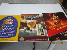 Three posters of beers: Rodenbach - Grimbergen - Kerst Pater