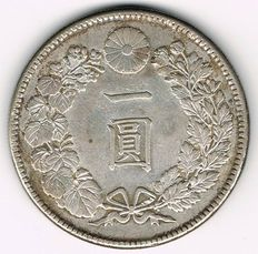 Japan - Yen 1912 (Year 45) Mutsuhito - silver