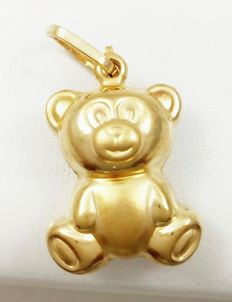Pendant - In the shape of a bear - 18 kt yellow gold