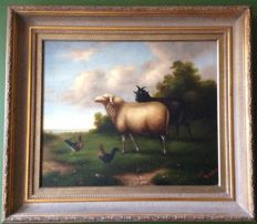 Oil painting Francois Dupre - 20th century