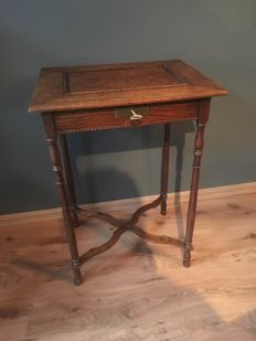Oak Empire sewing table - The Netherlands - circa 1900
