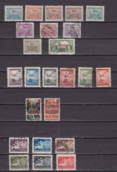 Eastern Europe 1925/1987 - Air mail.  Set of stamps and complete series