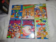 14 Nes games complete in box. Game like : Kirbys Adventure +  Dr. Mario +  + Zelda 2 and more