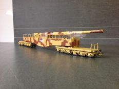 "Rivarossi H0 - HR6113 - Heavy Railway Artillery piece ""Leopold"" K5 of the DRB"