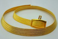 22 Ct Fine  Gold Bullion Mesh Necklace , Total 38.00 g, length 43 cm, width 1cm