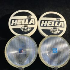 Very beautiful set Hella 186 fog lights for among others VW Beetle, T1, T2, BMW, etcetera