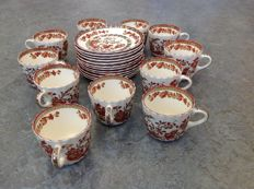 Copeland Spode - Set of 11 cups and saucers decor Indian Tree