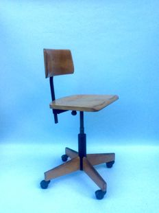 Giroflex - Original Vintage Wooden Architect's Chair