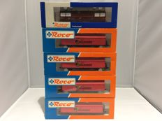 Roco HO - 46273 - 4 goods wagons Railhobby and - 47608 - 1 Benschop cocoa beans (2302)
