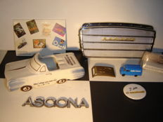 Opel - Lot of 7 old Opel collector's items and parts, including Olympia, Rekord, Blitz, Ascona, 1957-1985