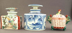 Collection of two tea canisters and and incense burner - Japan - 19th/20th century