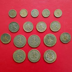 The Netherlands - ½ cent, cent and 2½ cent 1877/1886 Willem III - 17 different pieces - bronze