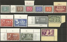 Switzerland - 1945-1972 - complete collection in stock book with all blocks and pax set, Michel 447-459