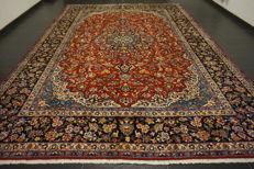 Beautiful fine Persian palace carpet, Nain, Isfahan, wool with silk, made in Iran, Isfahan Province, 300 x 415 cm, very good condition