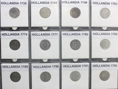 "Holland - Double ""wapenstuivers"" 1725/1792 (12 different) - silver"