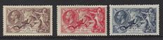 Great Britain 1913/1918 - Seahorses - Stanley Gibbons 414, 416 and 417