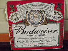 Enamel Sign of Budweiser. Original.