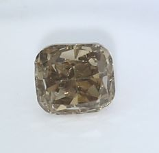 0.51 ct. Cushion Modified Brilliant Natural Diamond -  Fancy Brown - I 1