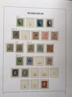 Belgium 1861/1944 - collection in Davo LX album with blocks and stamps from blocks - between OCB 9 and 660