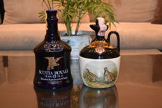 2 decanters - Scotia Royale 12 years old and Rutherford's 12 years old