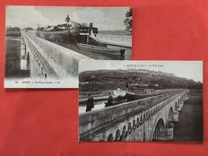 France, selection of 27 postcards on skippers of the Canal du Midi.