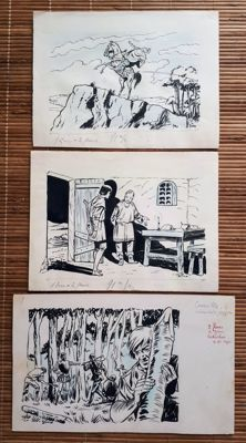 Attanasio, Dino - 3 original Illustrations