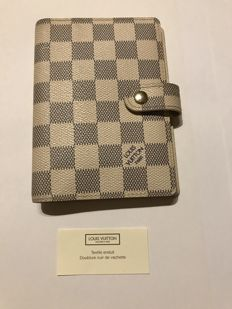 Louis Vuitton - Small Ring Agenda Cover Damier Azur Canvas