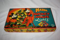 Disney, Walt - Christmas Lights Mazda - Thomson-Houston Co - Mickey Mouse (1940)