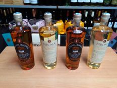Sibona Italian distillery - 4 bottles of 150cl grappa. - Port finish Riserva & di Muscato oak aged