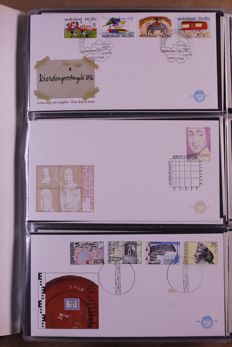 Nederland 1976/2002 - Collectie FDC's en covers in 4 Davo standaard albums