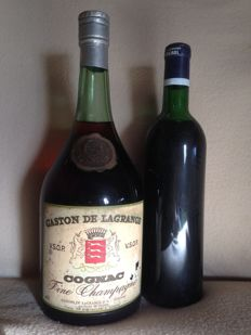 Gaston De Lagrange, magnum 1,5 litres, VSOP, fine Champagne, late 1950s/early 1960s