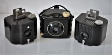 Three KODAK  Brownie  Bakelite Cameras.