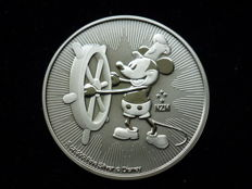 Niue 2017 - Disney Mickey Mouse - 1 oz of 999 silver - Steamboat Willie - New Zealand - First issue