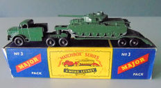 Moko Lesney Matchbox - Échelle inconnu - Major Pack M-3 Tank Transporter and Centurion Mk III Tank