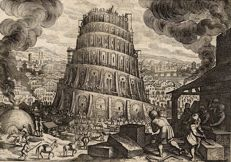 Mathias Merian (1593-1650), Tower of Babel, 1627