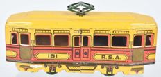 Rico, Spain - Length 21 cm - Tin wind-up Street Car (Tram), 1930s