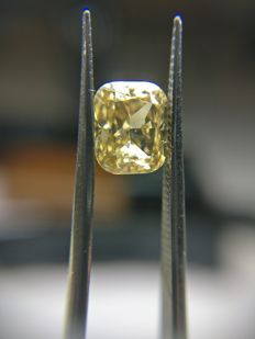 1.01 ct Cushion cut diamond Fancy Dark Yellowish Brown Even SI1  -No Reserve