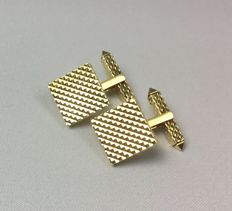 Solid 18 kt gold cufflinks - 15.1 g