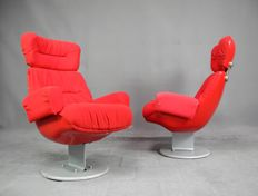 Designer unknown - Set of 2 vintage cinema chairs