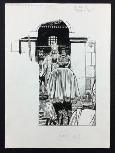 "Micheluzzi, Attilio - original illustration ""Attila"" (1985)"