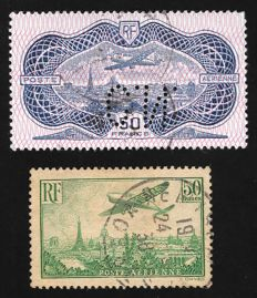 France 1936 - Airmail - Yvert Airmail 14 and 15