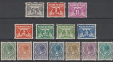 The Netherlands – 1930 – Two-sided syncopated corner perforation – NVPH R57/R70